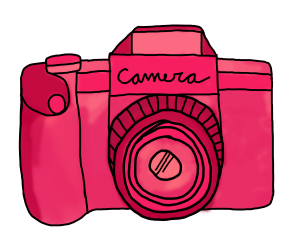 camera, pink, and photo image