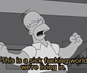 homer, sick, and world image