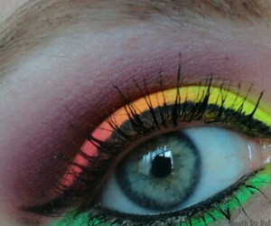 colorful, makeup, and neon image