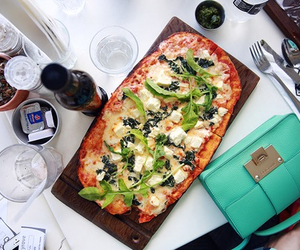 food, pizza, and summer image