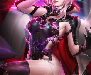final fantasy, lightning, and sakimichan image