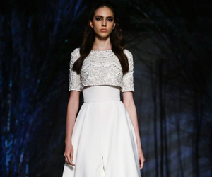 fashion week, haute couture, and weeding dress image