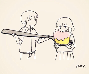 amy, art, and boy image