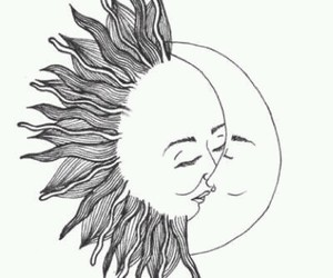 moon, sun, and love image