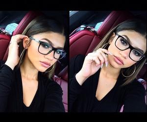 zendaya, makeup, and glasses image