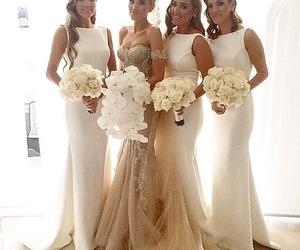 bridesmaid dress, bridesmaid dresses, and white bridesmaid dress image