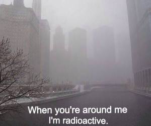 radioactive, pale, and quote image