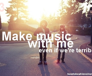3, be a friend, and make music with me image