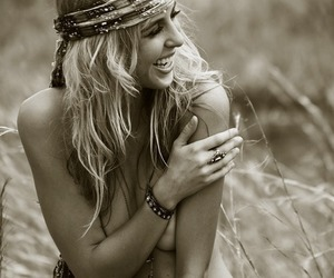 blonde, bohemian, and Chick image
