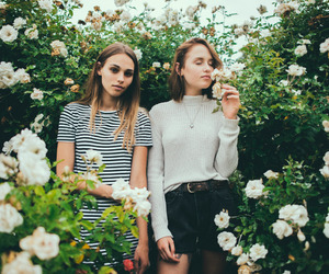 friendship, girls, and fowers image