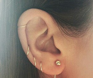 earring, fashion, and style image