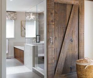 bathroom, design, and door image