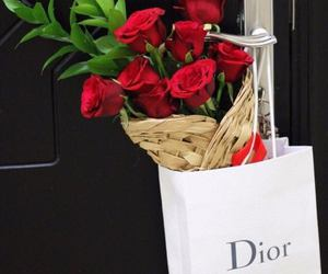 dior, flowers, and luxury image