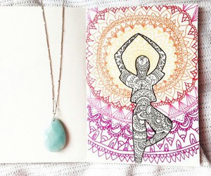 yoga, hippie, and good vibes image