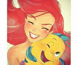 ariel, friendship, and flounder image
