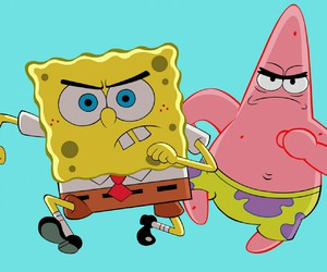 patrick, spongebob, and spongebob squarepants image