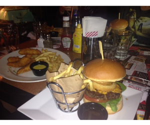american, burger, and dinner image