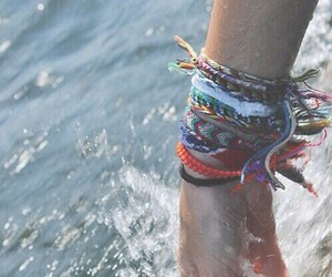 bracelet, water, and summer image