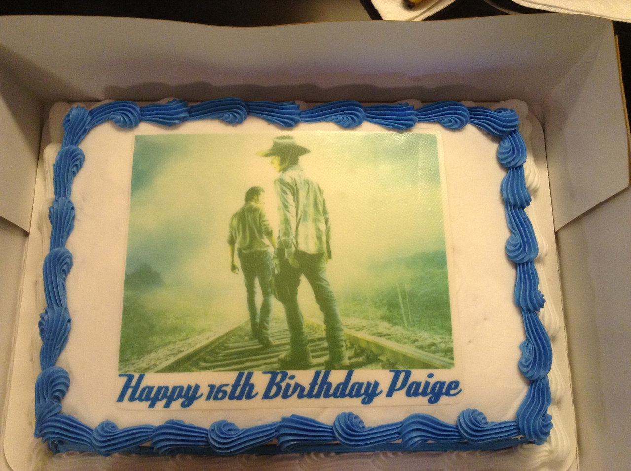 My Birthday Cake Of Rick And Carl On We Heart It