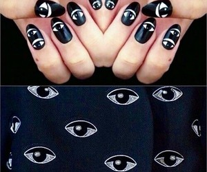 nail art, nails, and eyes image