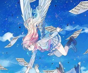 anime, shigatsu wa kimi no uso, and angel image