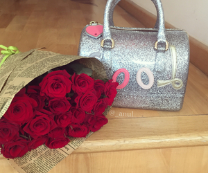 furla, red, and roses image