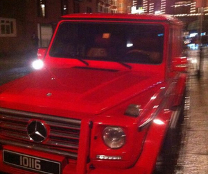 red, mercedes, and car image