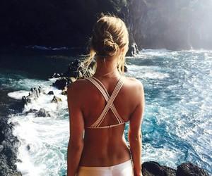 girl, summer, and bikini image