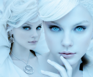 blonde, hair, and blue image