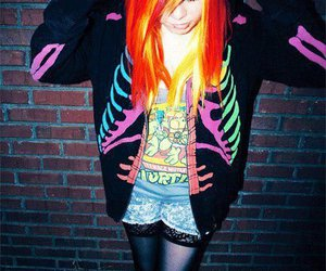 colored hair, dyed hair, and orange hair image