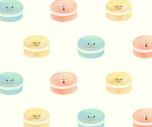 colour, macarons, and face image