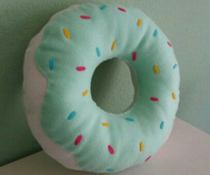 donut, pillow, and cute image