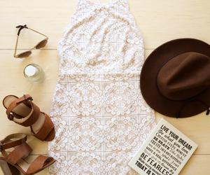 dress, hat, and outfit image