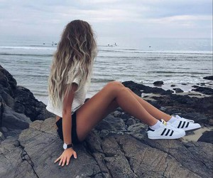 adidas, freedom, and ocean image