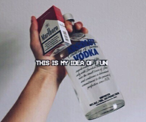 vodka, cigarette, and fun image