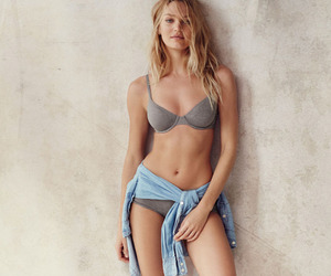 cute girl, lingerie, and candice swanepoel image