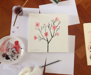 creative, drawing, and flowers image
