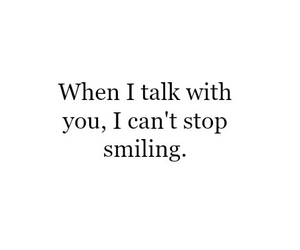 smiling and talk image