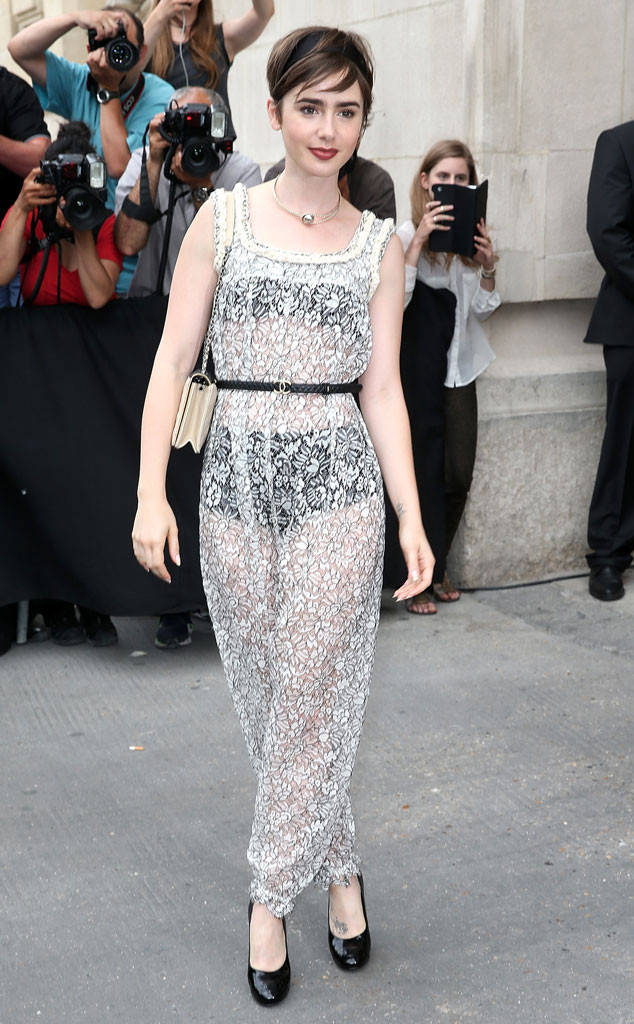 lily collins, beauty, and fashion image