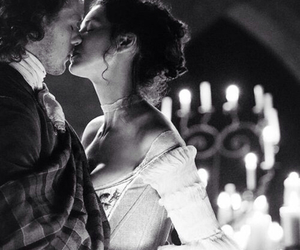 outlander, love, and kiss image