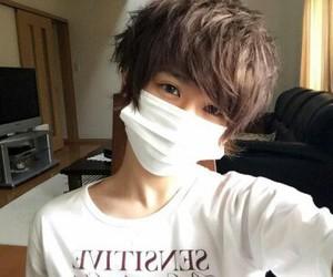 asian boy, mask, and fashion image