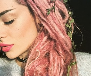 albanian, braids, and flowers image