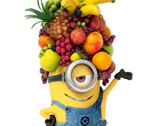 minions, fruit, and banana image