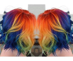 colorful, dye, and hair image