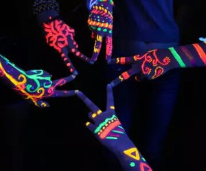 colors, neon, and friends image