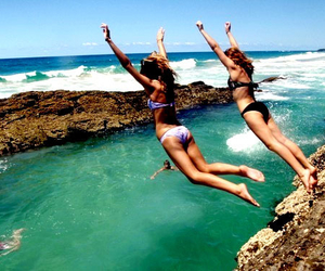 beach, best friends, and holidays image