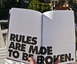 rules, book, and quotes image
