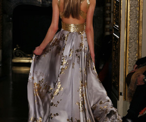 dress, gold, and model image