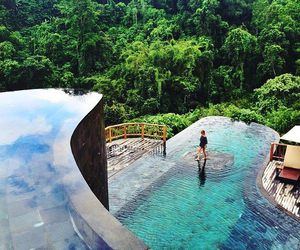nature, pool, and paradise image