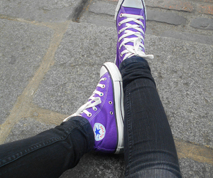 black, cool, and chucks image